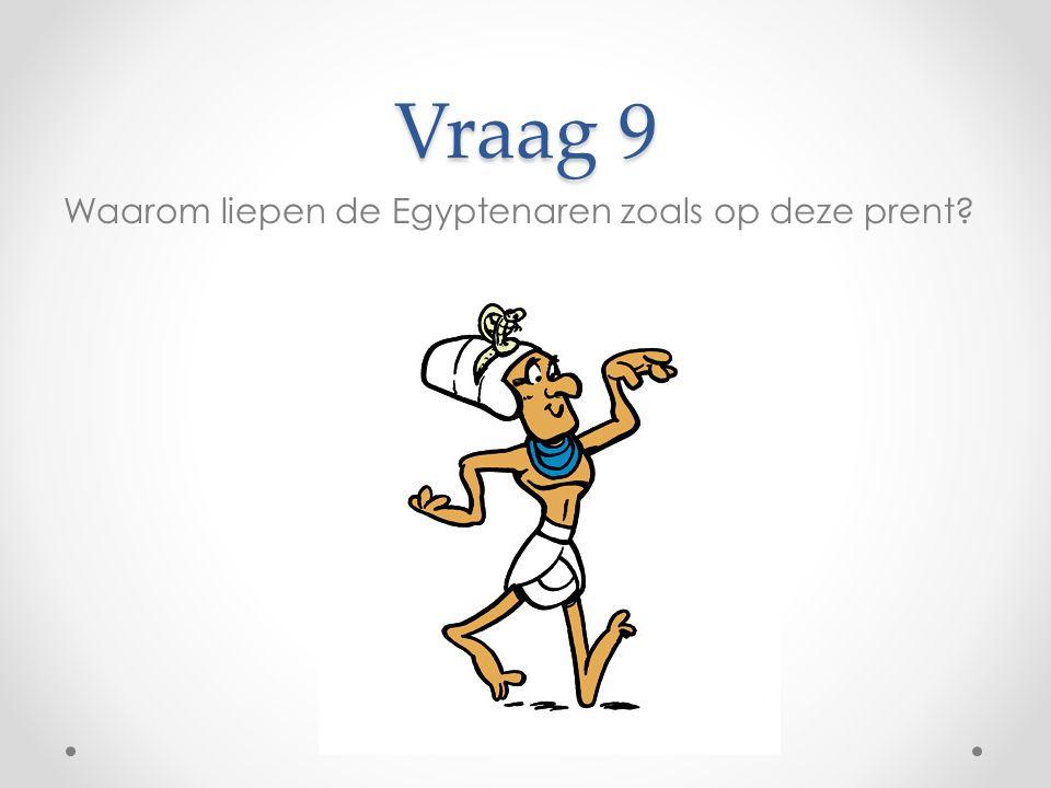 Vraag 9 Waarom liepen de Egyptenaren zoals op deze prent