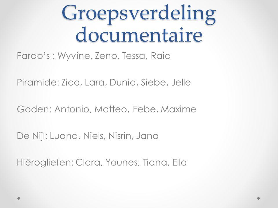 Groepsverdeling documentaire