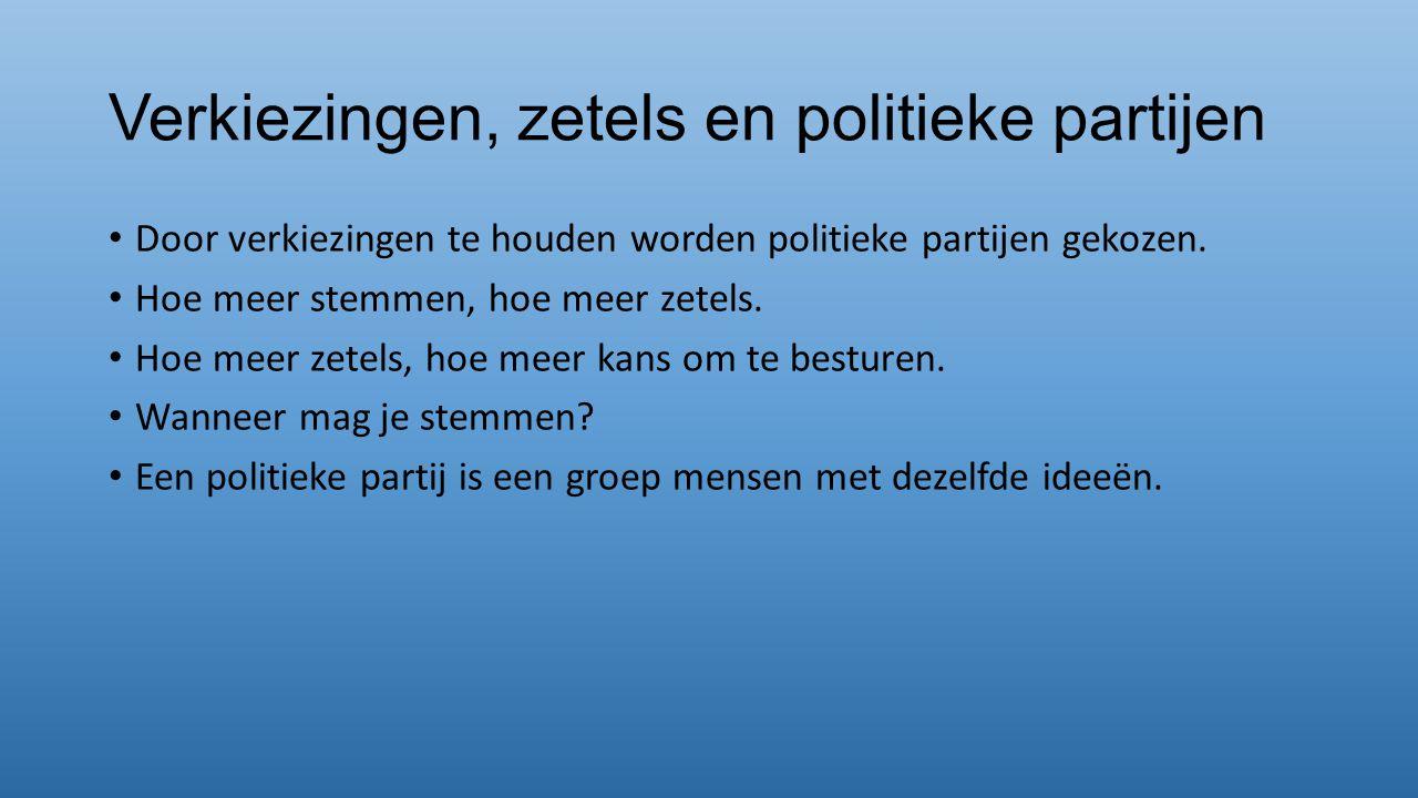 Verkiezingen, zetels en politieke partijen