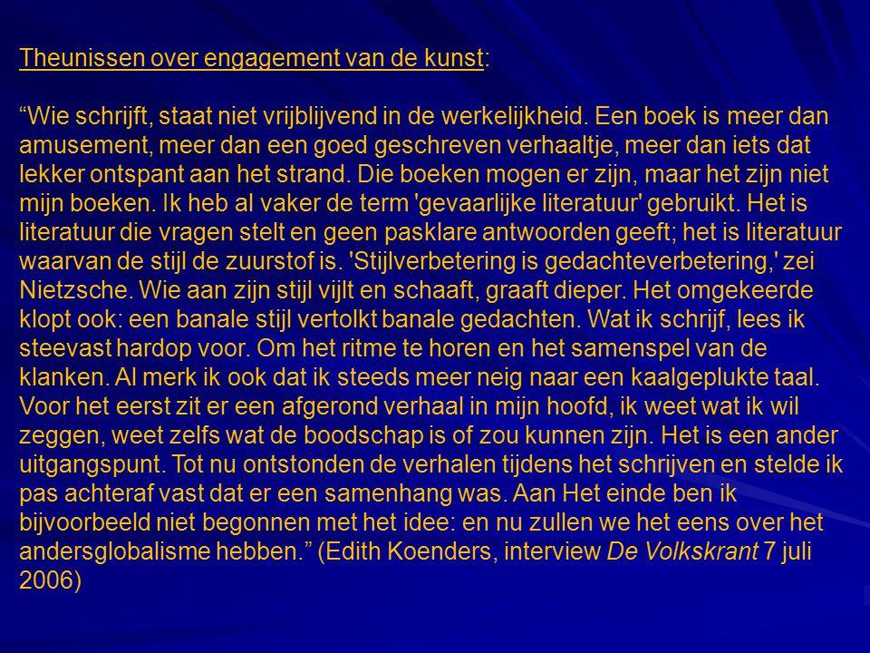 Theunissen over engagement van de kunst: