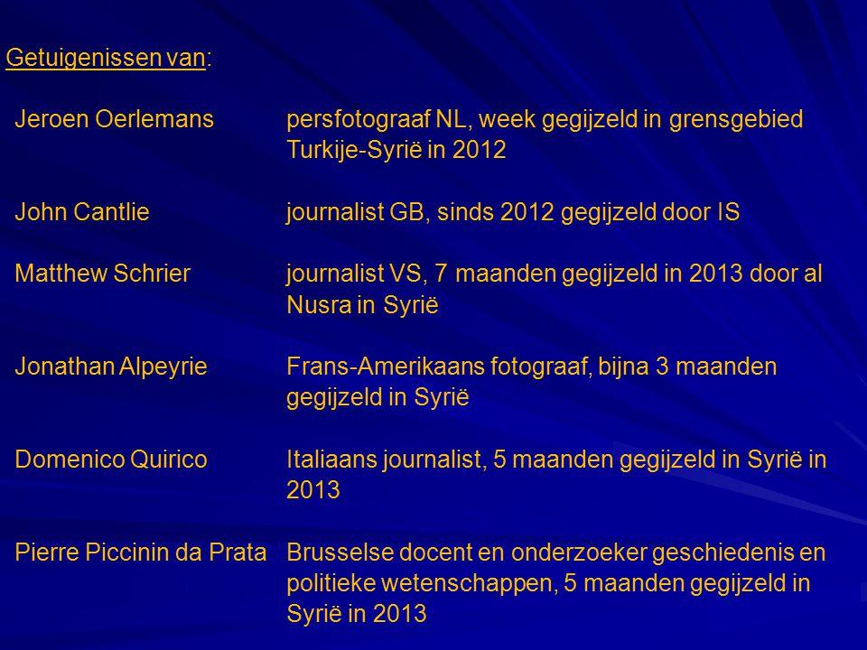 Getuigenissen van: Jeroen Oerlemans persfotograaf NL, week gegijzeld in grensgebied Turkije-Syrië in 2012.