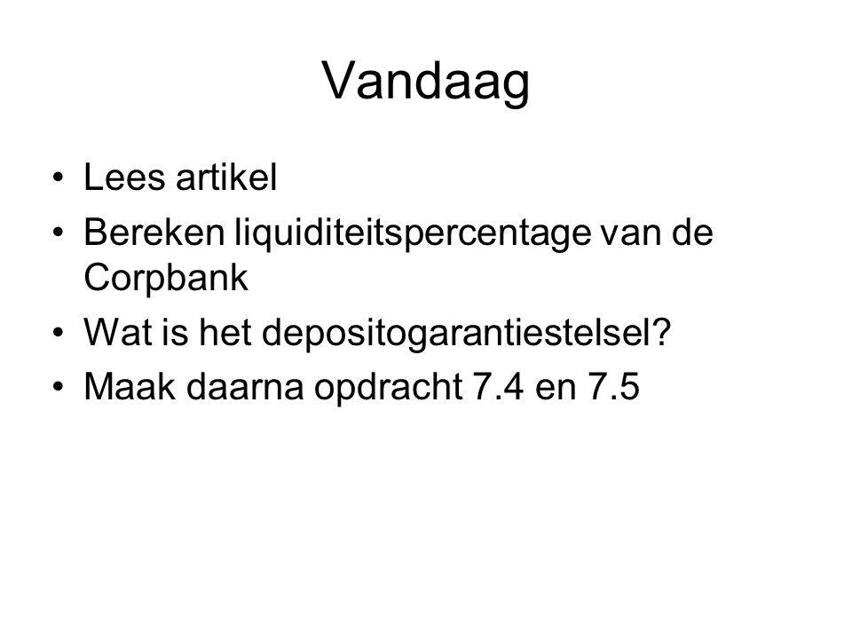 Vandaag Lees artikel Bereken liquiditeitspercentage van de Corpbank