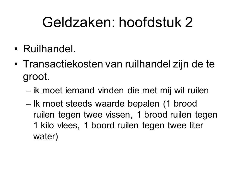 Geldzaken: hoofdstuk 2 Ruilhandel.