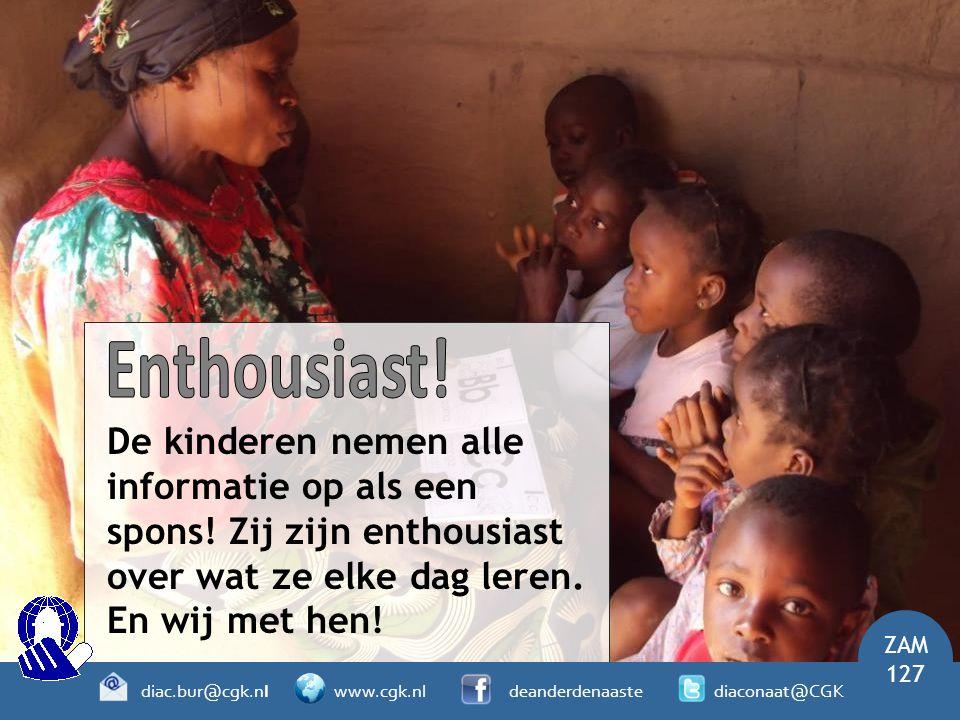 Enthousiast! De kinderen nemen alle informatie op als een spons! Zij zijn enthousiast over wat ze elke dag leren. En wij met hen!