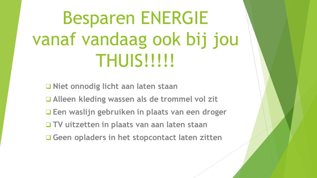 Besparen ENERGIE vanaf vandaag ook bij jou THUIS!!!!!