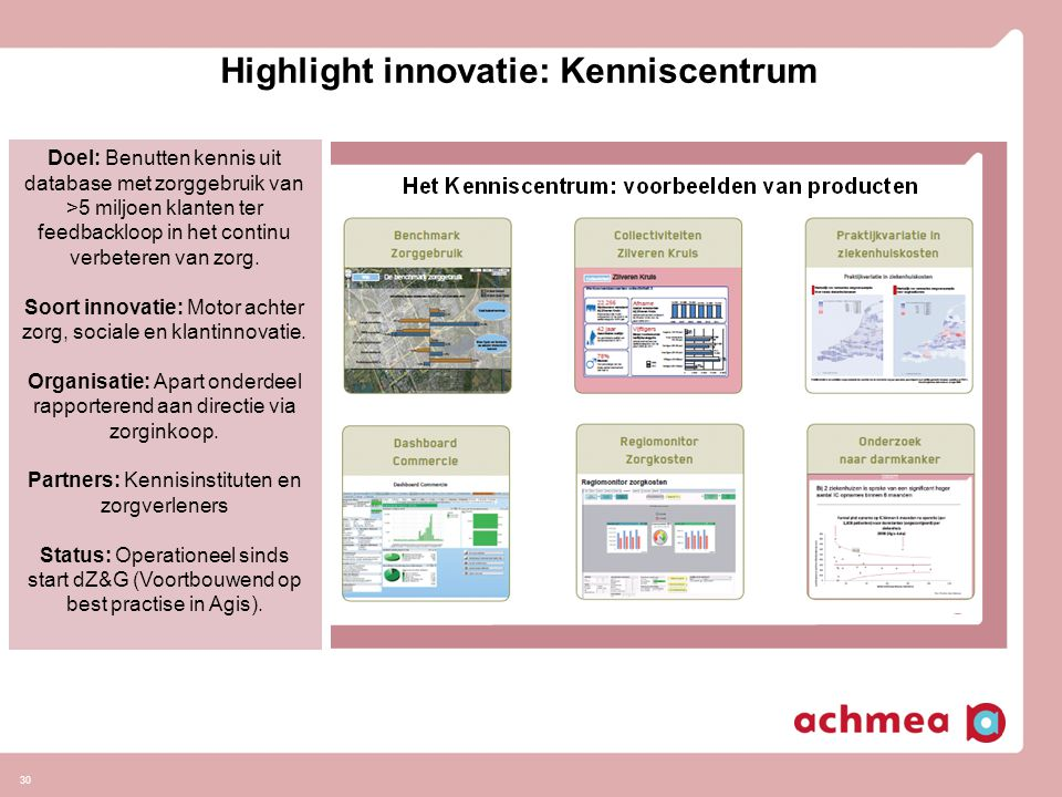 Highlight innovatie: Kenniscentrum