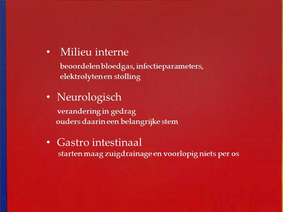 beoordelen bloedgas, infectieparameters, Neurologisch