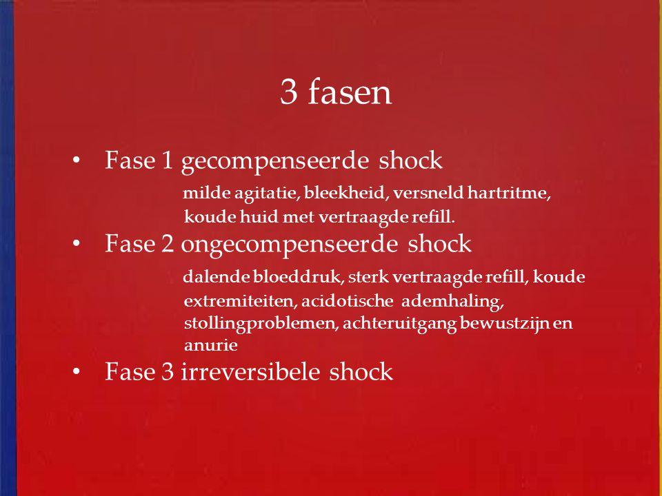 3 fasen Fase 1 gecompenseerde shock