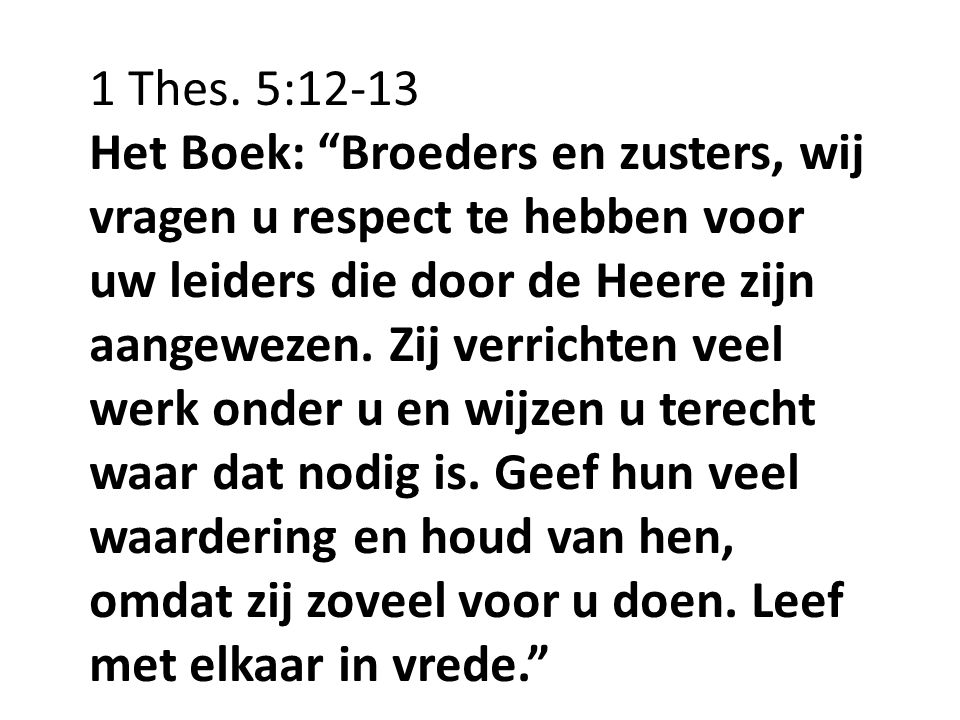 1 Thes. 5:12-13