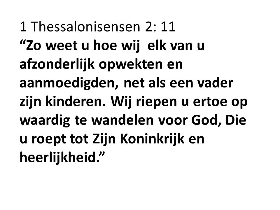 1 Thessalonisensen 2: 11