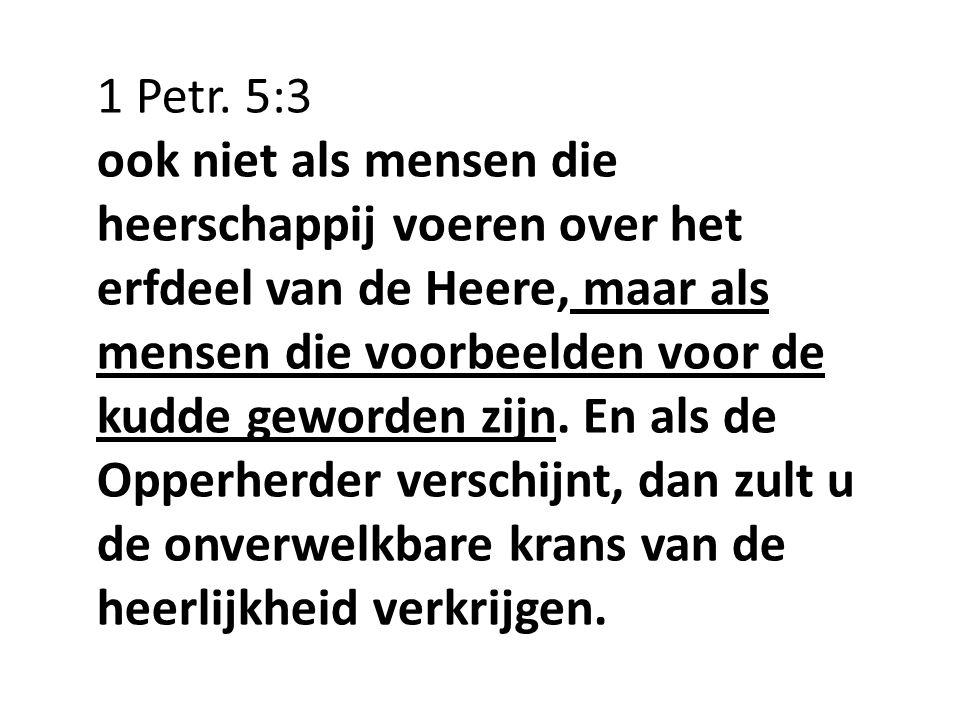 1 Petr. 5:3