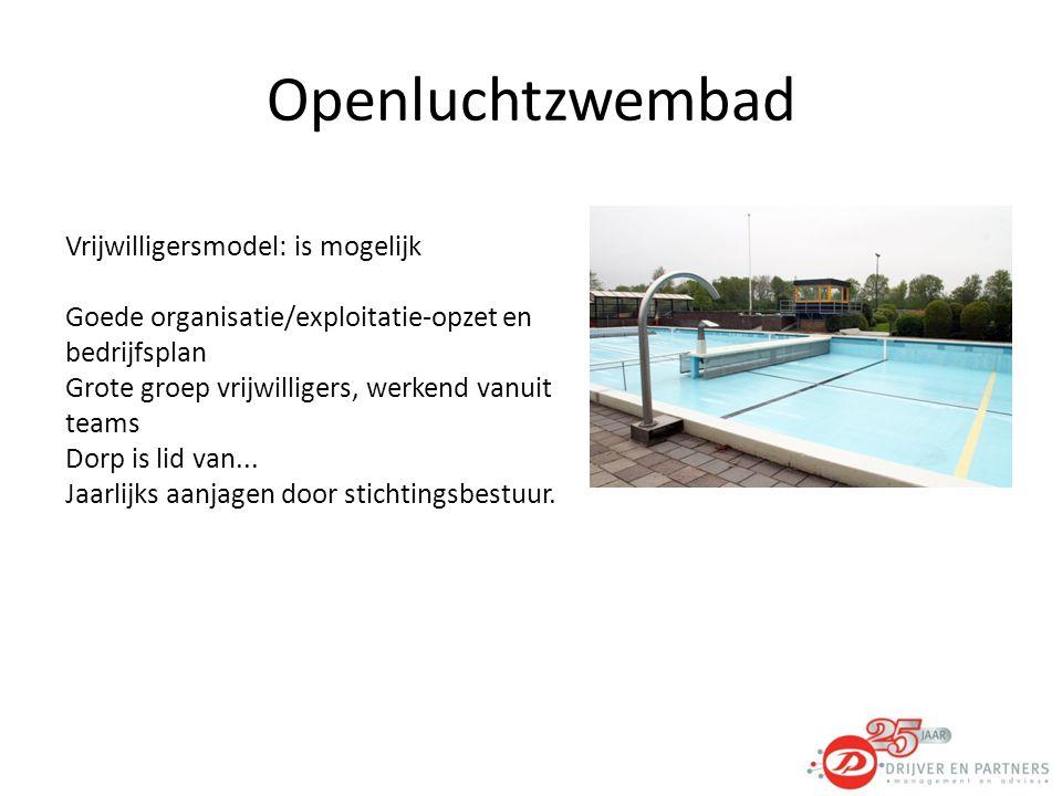 Openluchtzwembad Vrijwilligersmodel: is mogelijk
