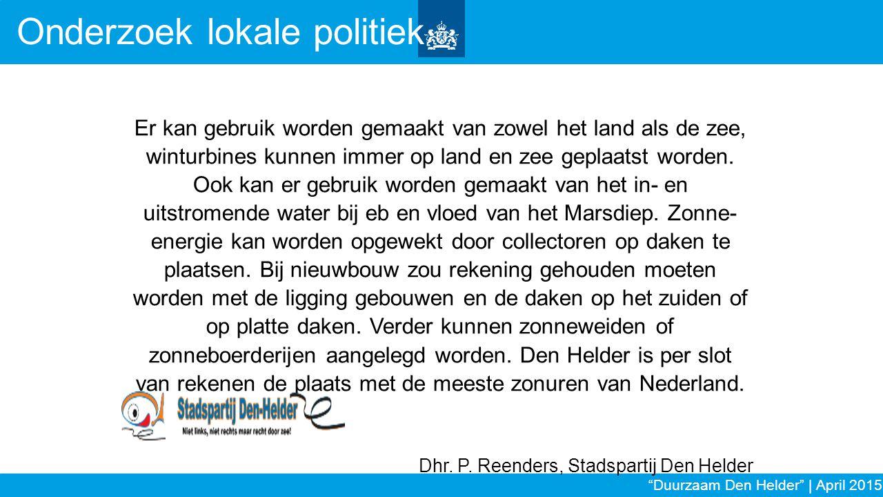Onderzoek lokale politiek
