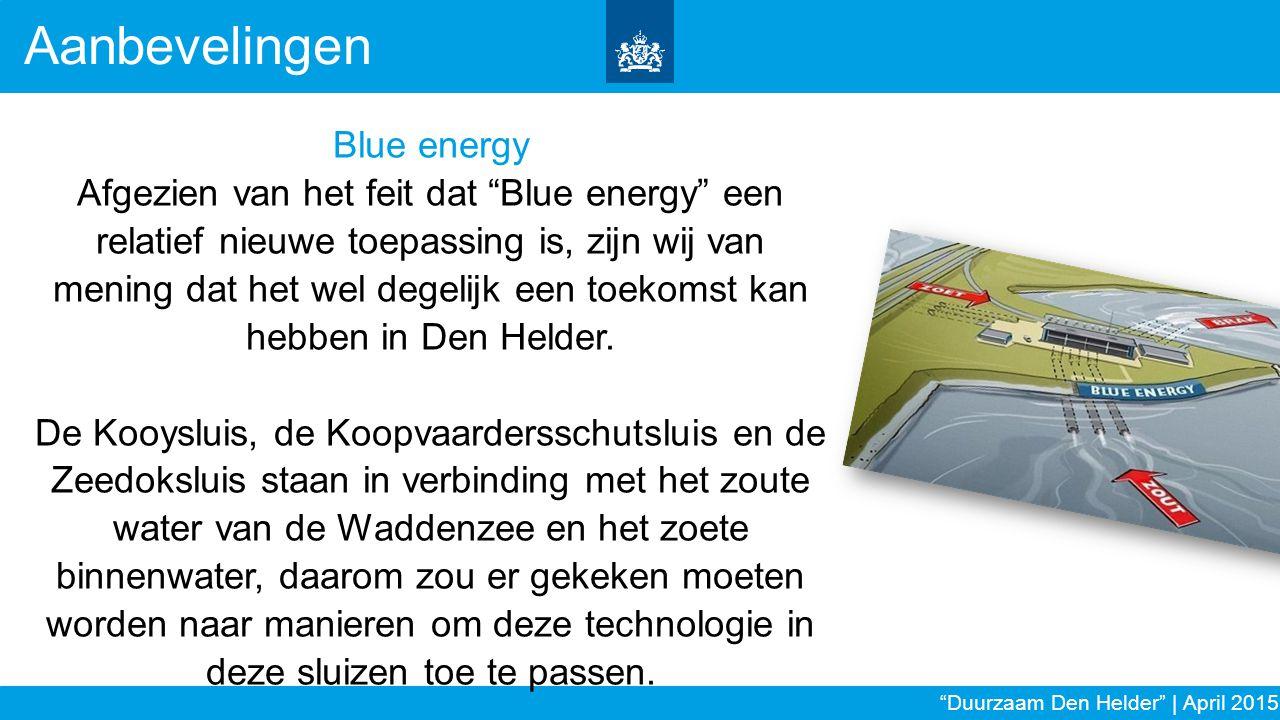 Aanbevelingen Blue energy