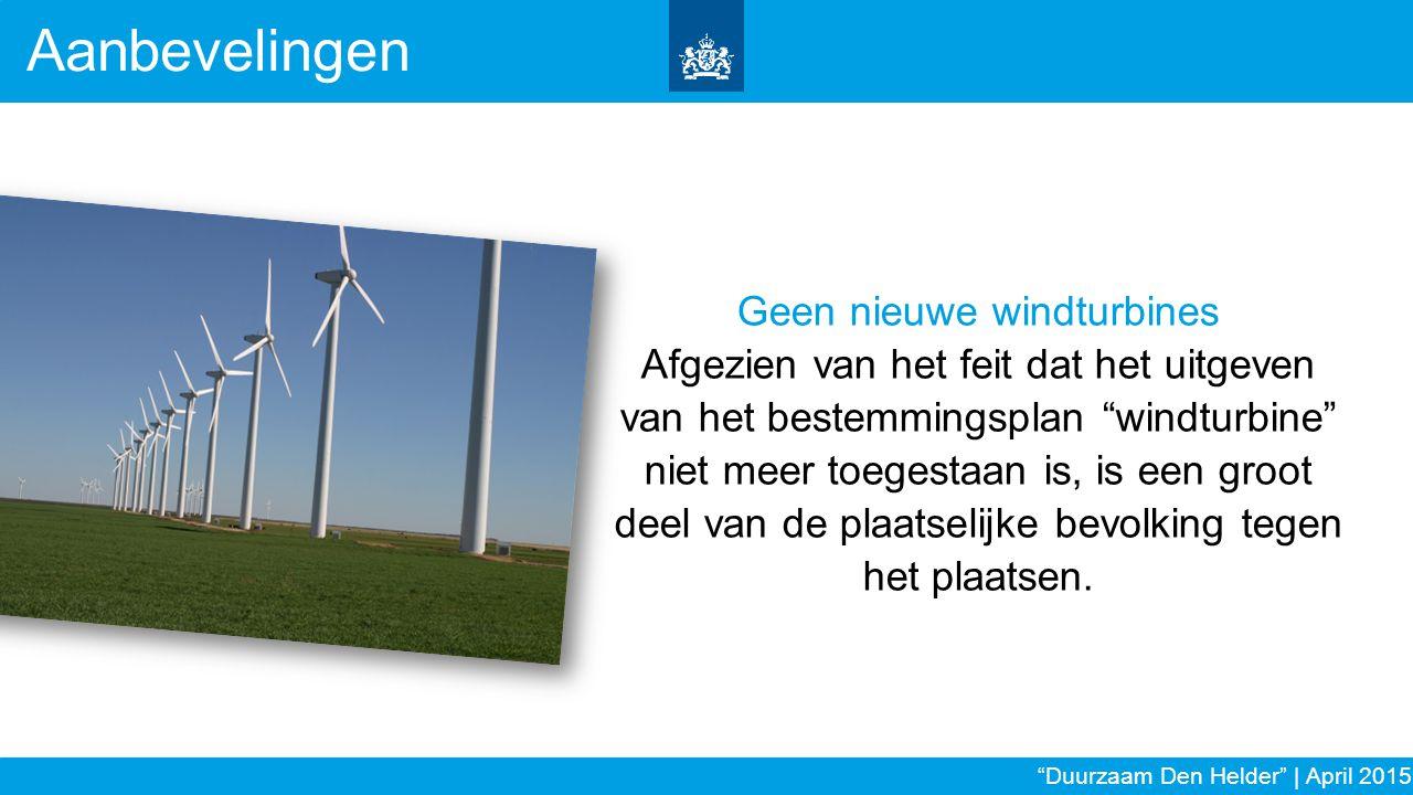 Geen nieuwe windturbines