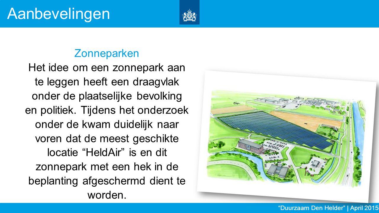 Aanbevelingen Zonneparken