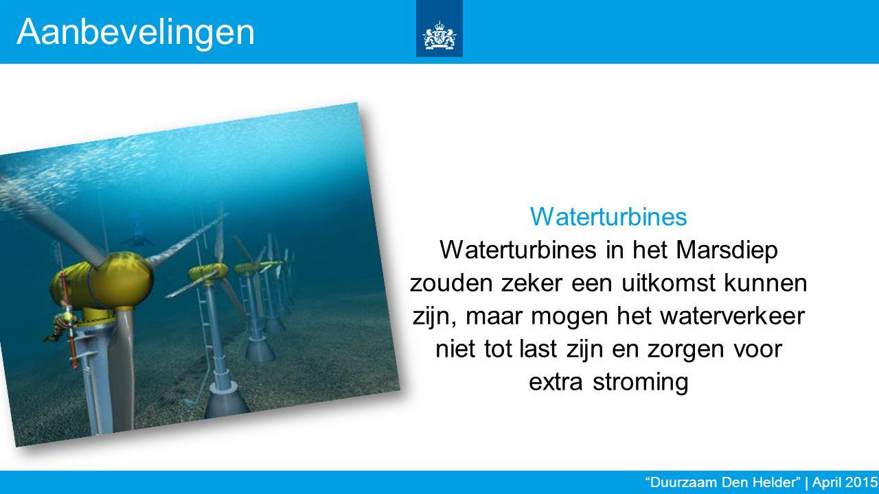 Aanbevelingen Waterturbines
