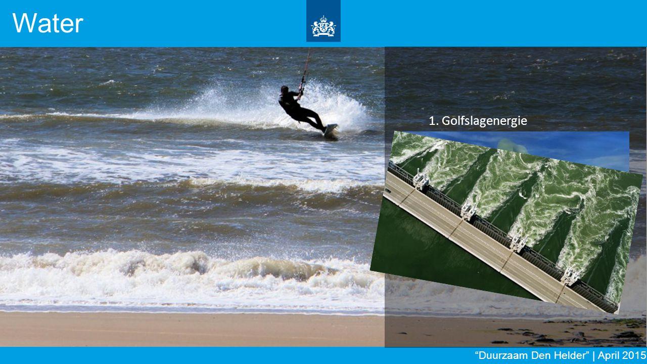 Water 1. Golfslagenergie 2. Blauwe energie 3. Getijdenenergie