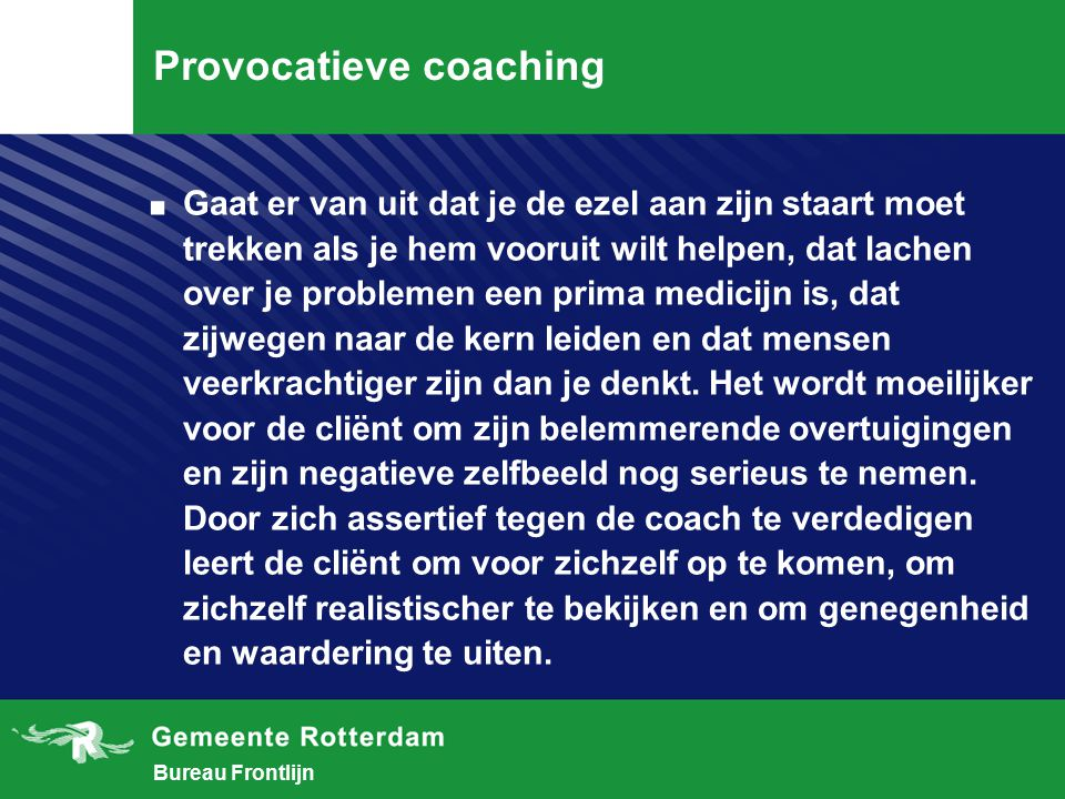 Provocatieve coaching