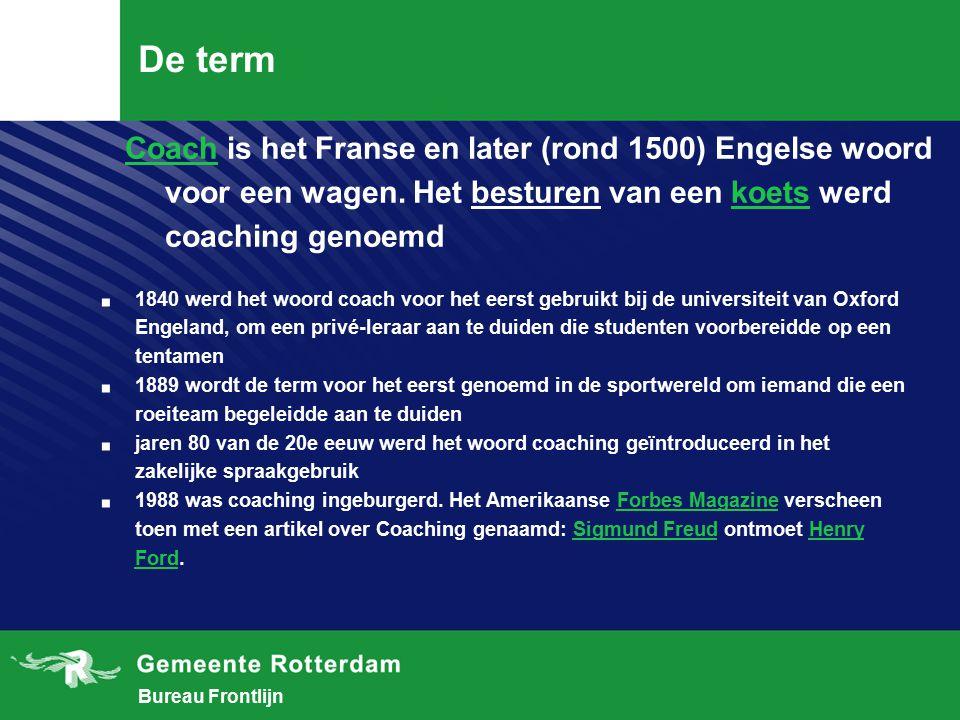 De term Coach is het Franse en later (rond 1500) Engelse woord voor een wagen. Het besturen van een koets werd coaching genoemd.
