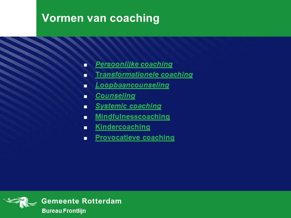 Vormen van coaching Persoonlijke coaching Transformationele coaching