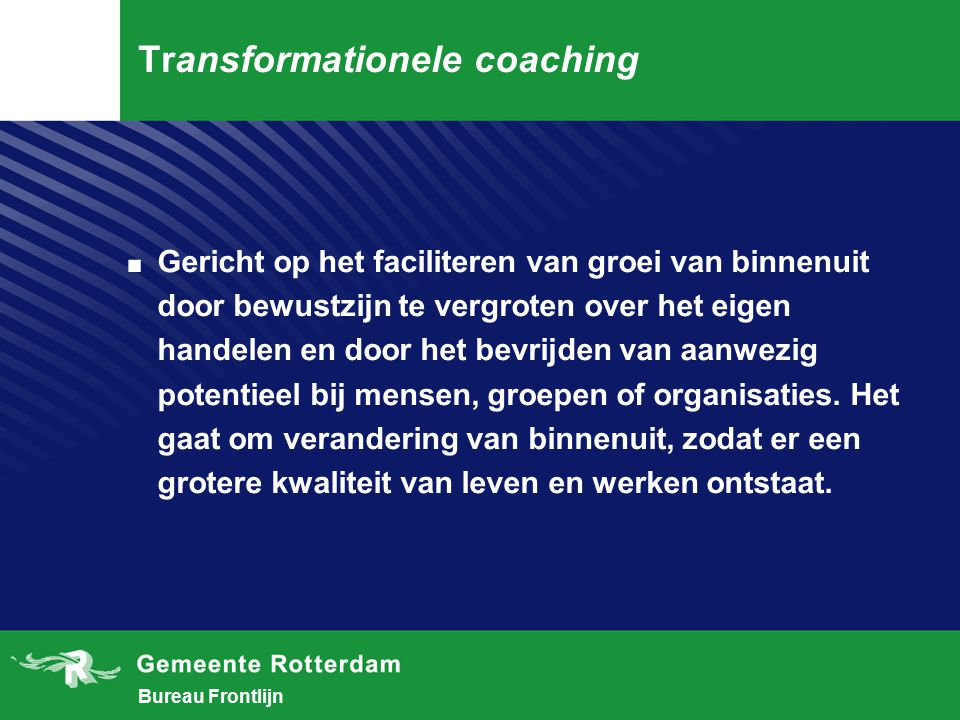 Transformationele coaching