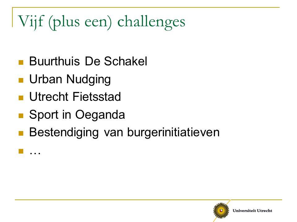 Vijf (plus een) challenges