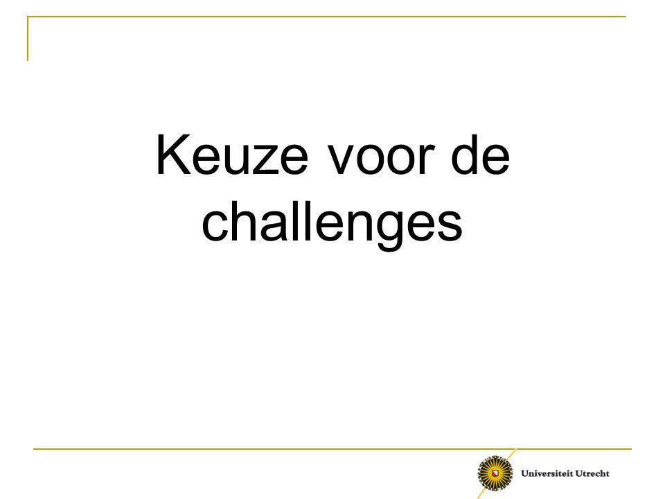 Keuze voor de challenges