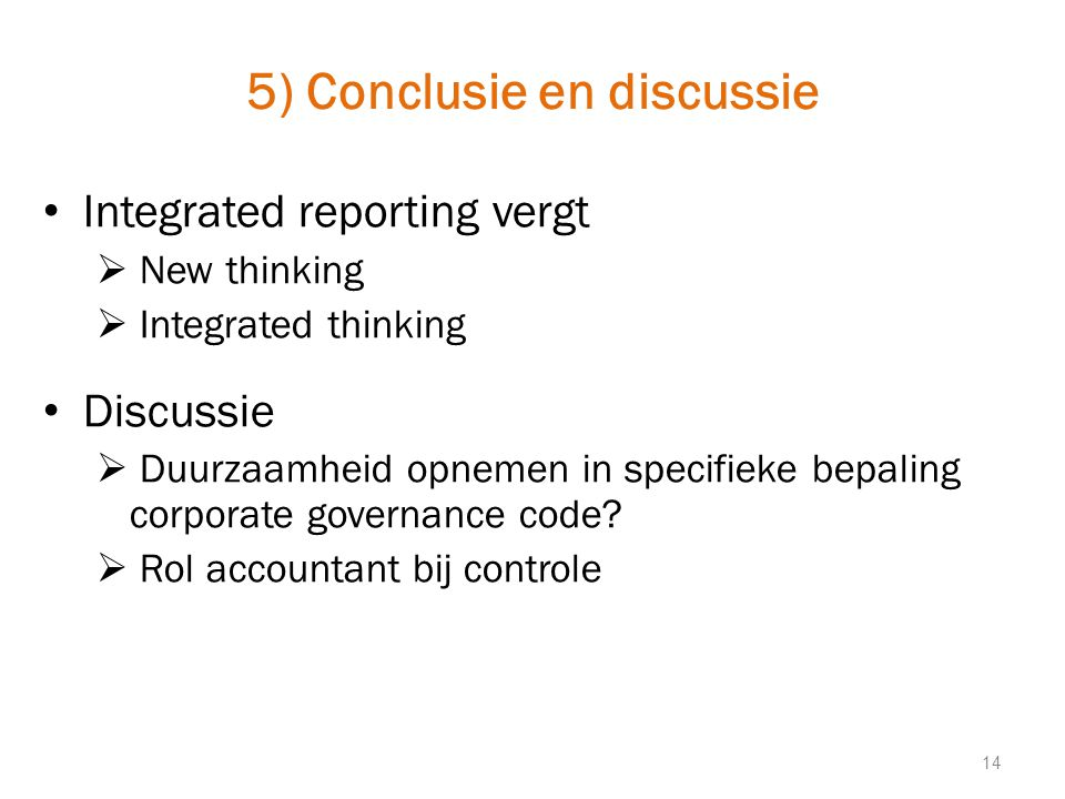 5) Conclusie en discussie