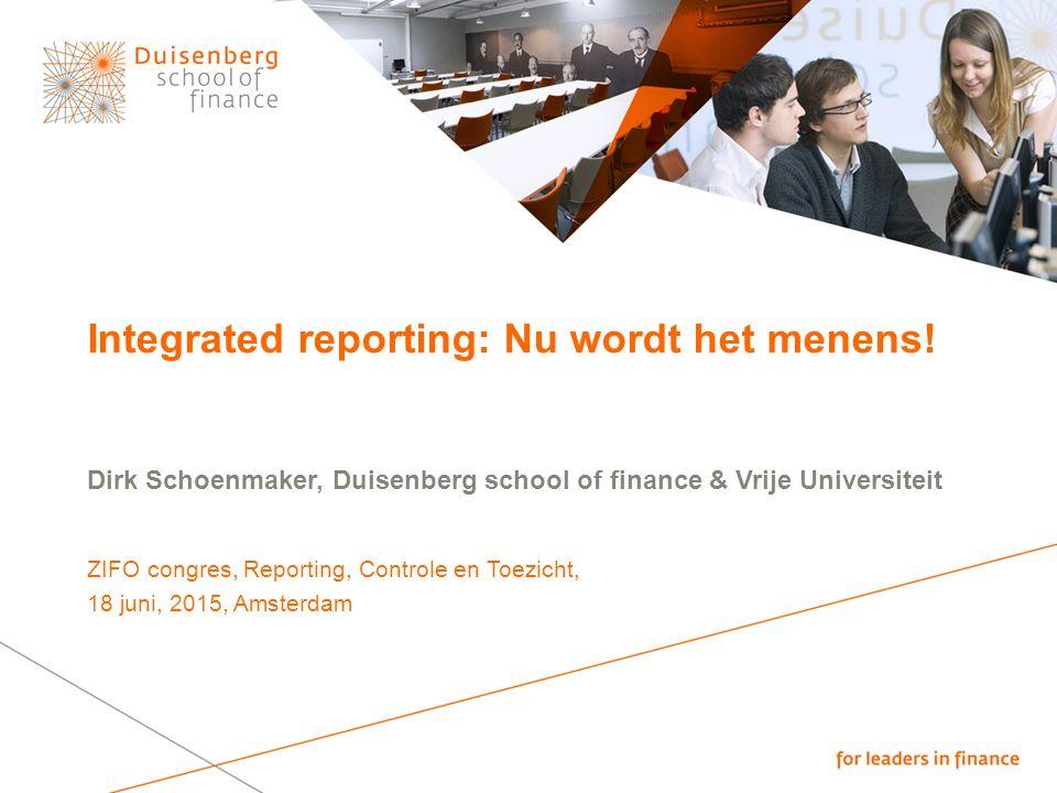 Integrated reporting: Nu wordt het menens!