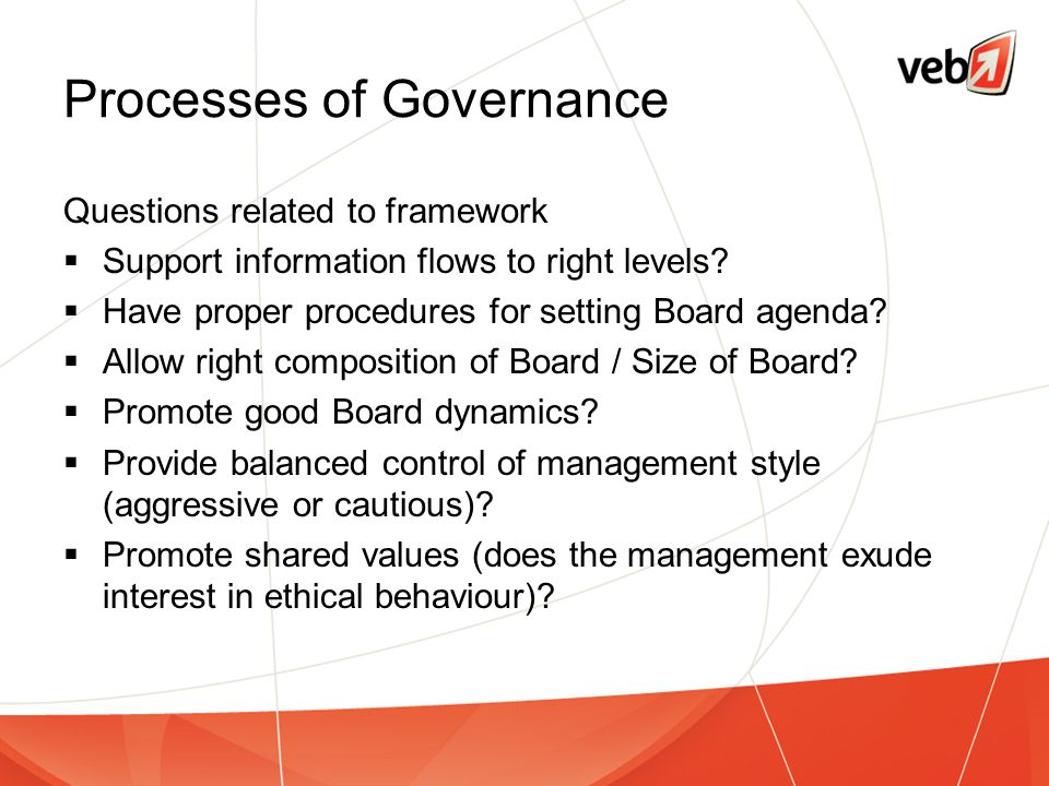 Processes of Governance
