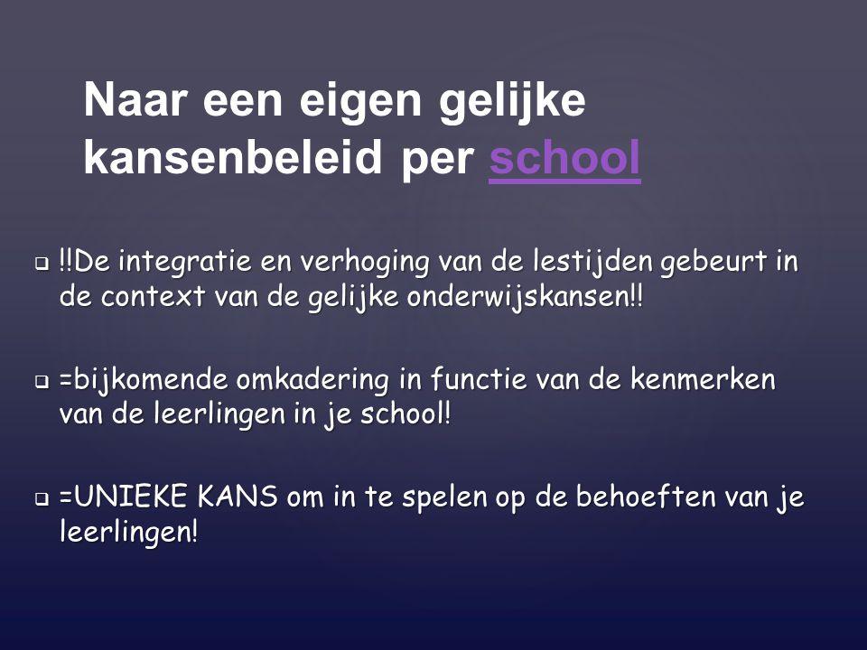 Naar een eigen gelijke kansenbeleid per school