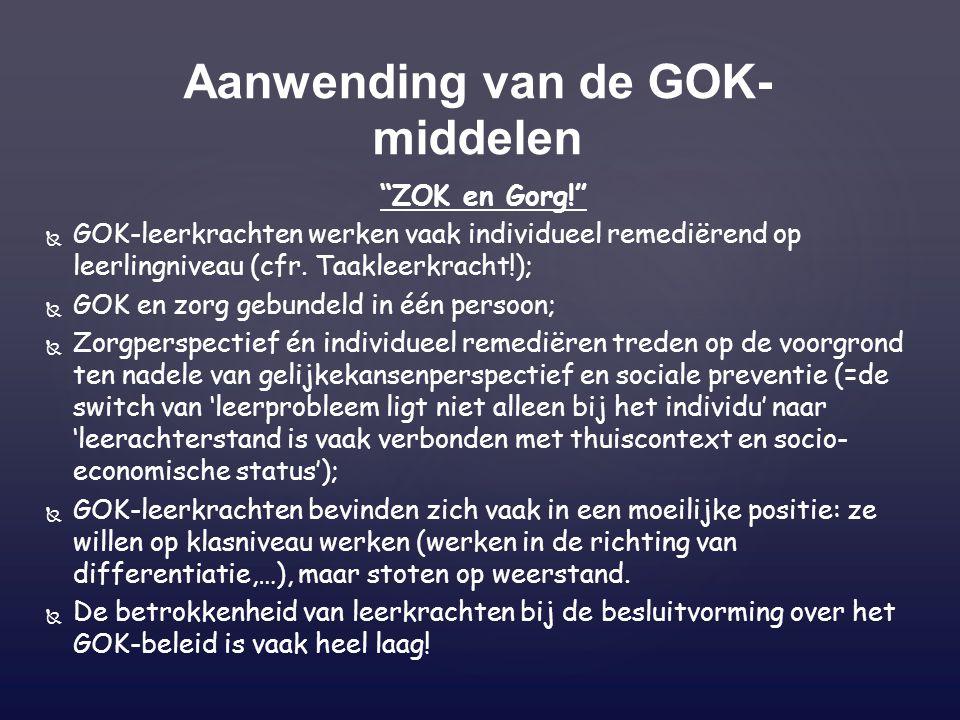 Aanwending van de GOK-middelen
