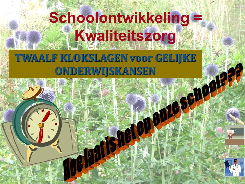 Schoolontwikkeling = Kwaliteitszorg