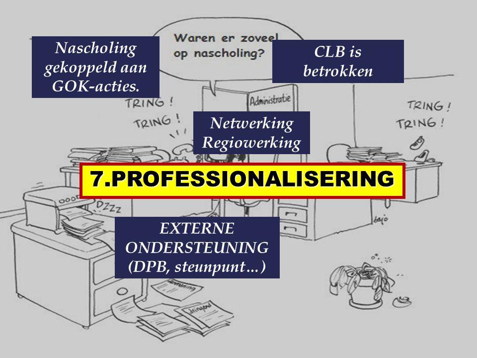 7.PROFESSIONALISERING Nascholing gekoppeld aan GOK-acties.