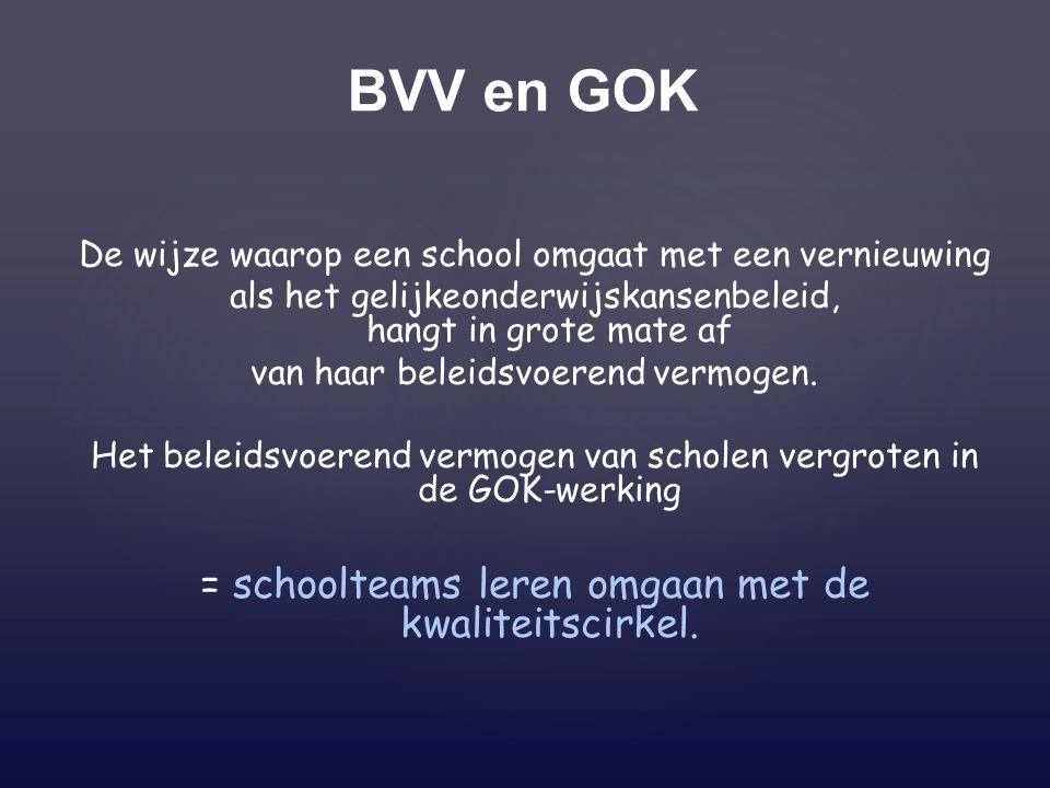 BVV en GOK = schoolteams leren omgaan met de kwaliteitscirkel.