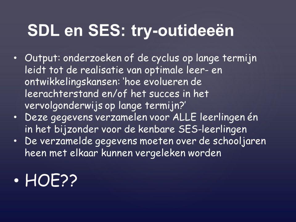 SDL en SES: try-outideeën