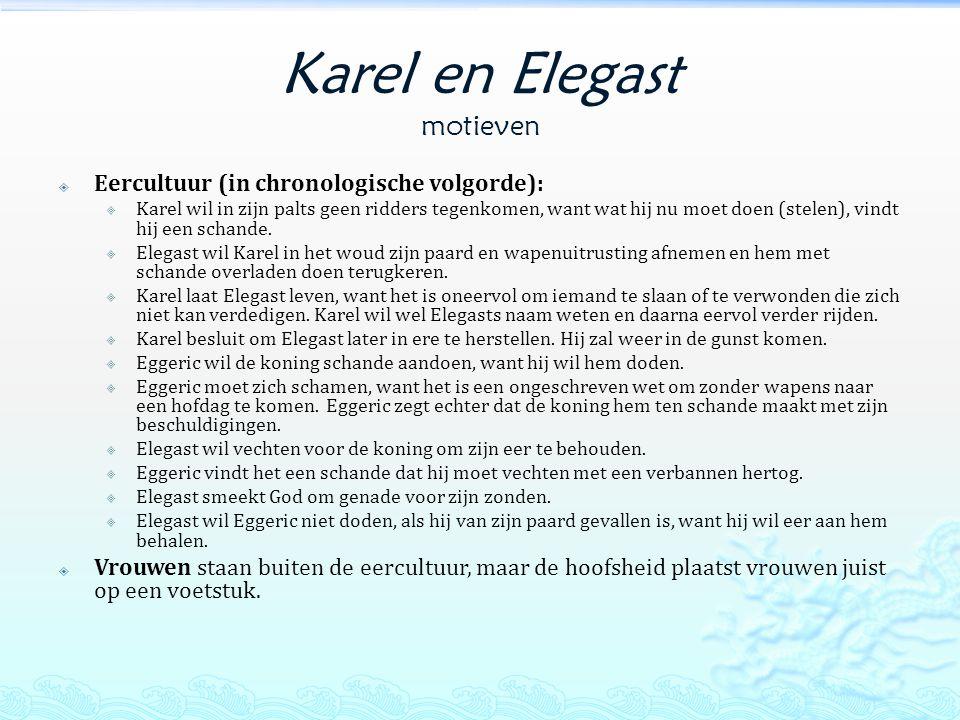 Karel en Elegast motieven