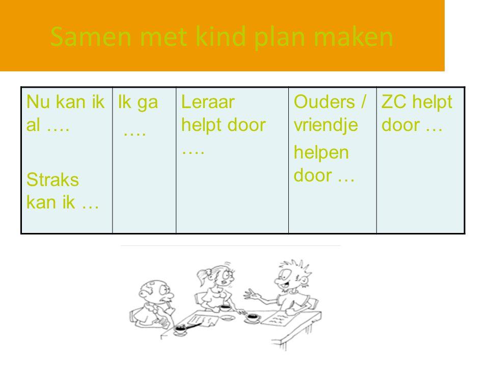 Samen met kind plan maken