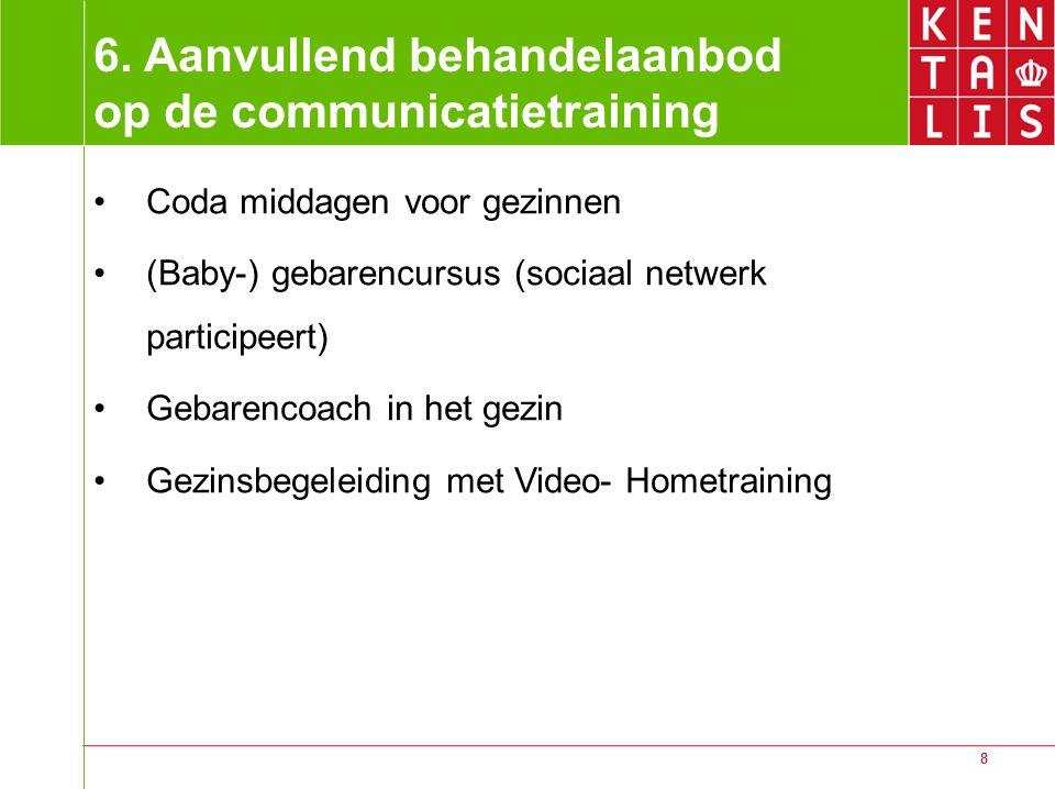 6. Aanvullend behandelaanbod op de communicatietraining