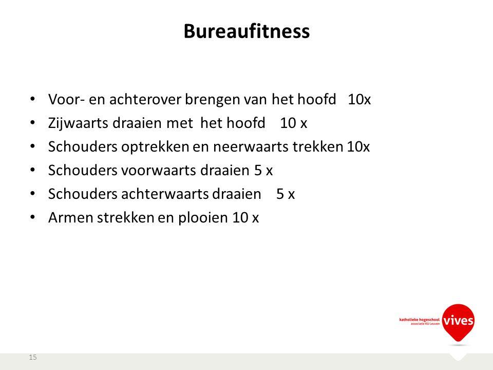 Bureaufitness Voor- en achterover brengen van het hoofd 10x