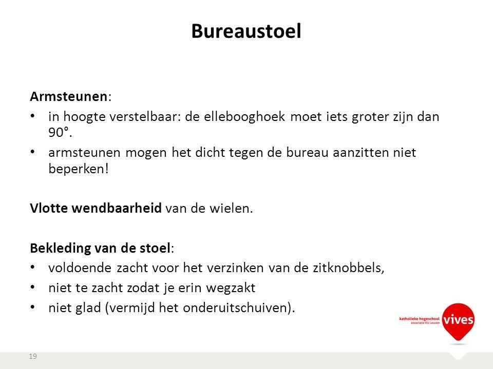 Bureaustoel Armsteunen:
