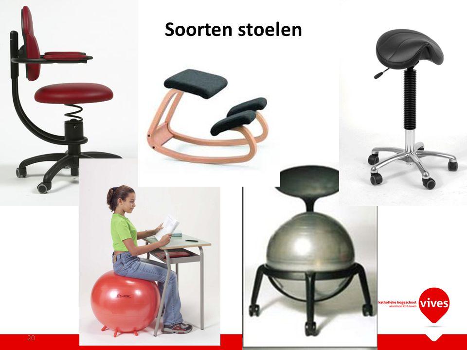 Soorten stoelen