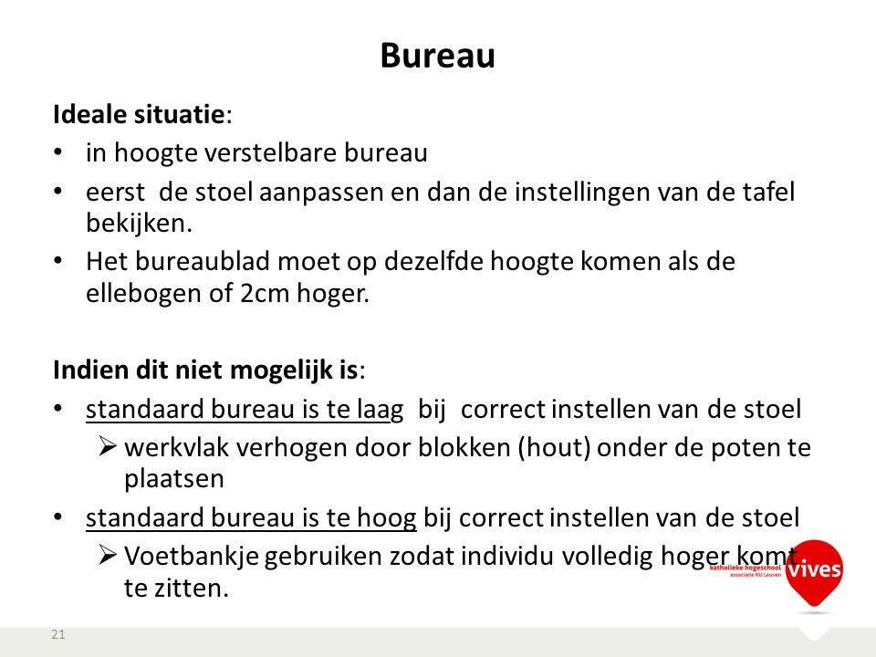 Bureau Ideale situatie: in hoogte verstelbare bureau