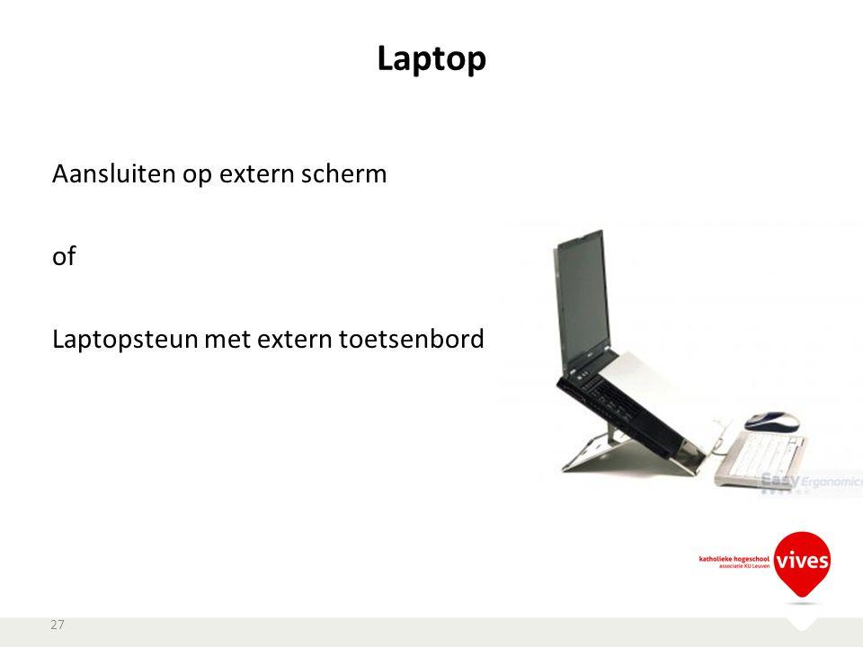 Laptop Aansluiten op extern scherm of