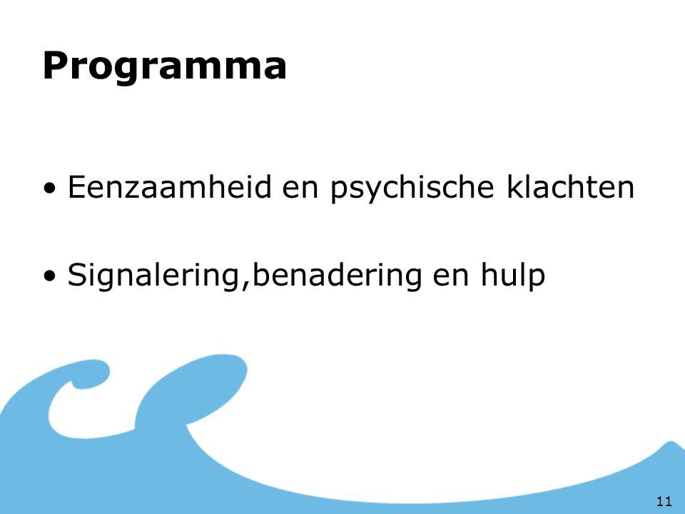 Programma Eenzaamheid en psychische klachten