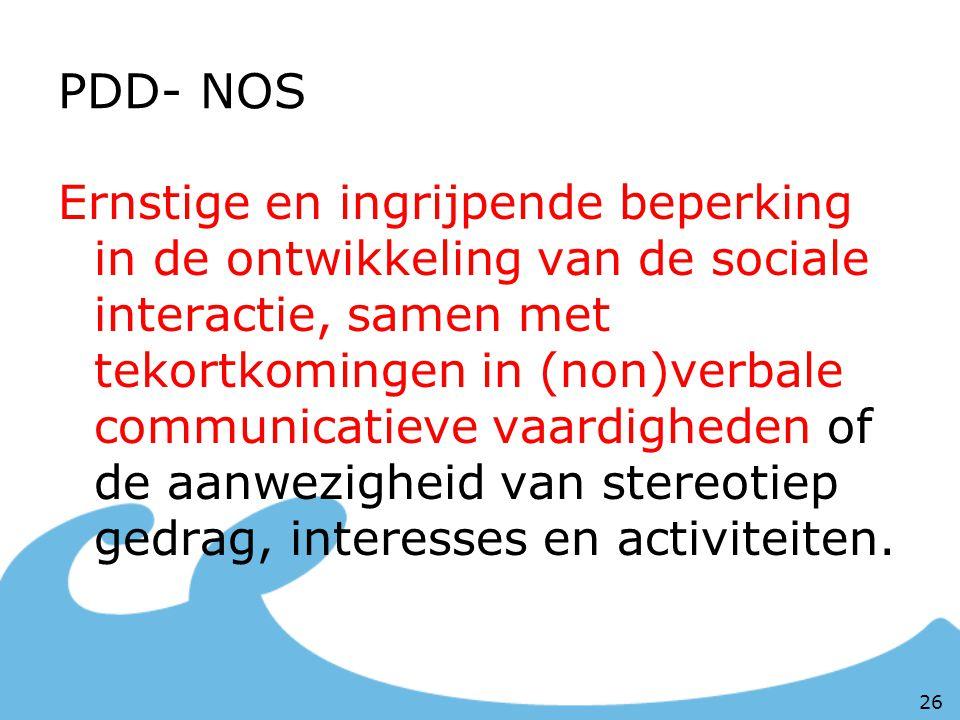 PDD- NOS
