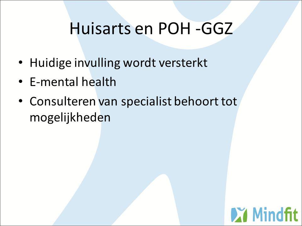 Huisarts en POH -GGZ Huidige invulling wordt versterkt E-mental health