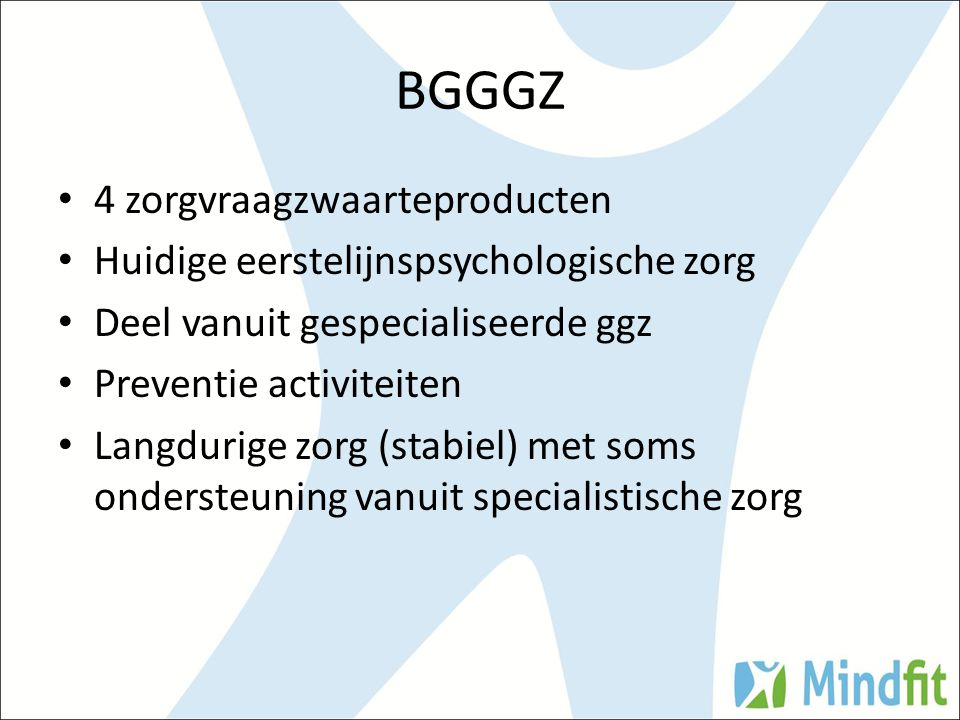 BGGGZ 4 zorgvraagzwaarteproducten