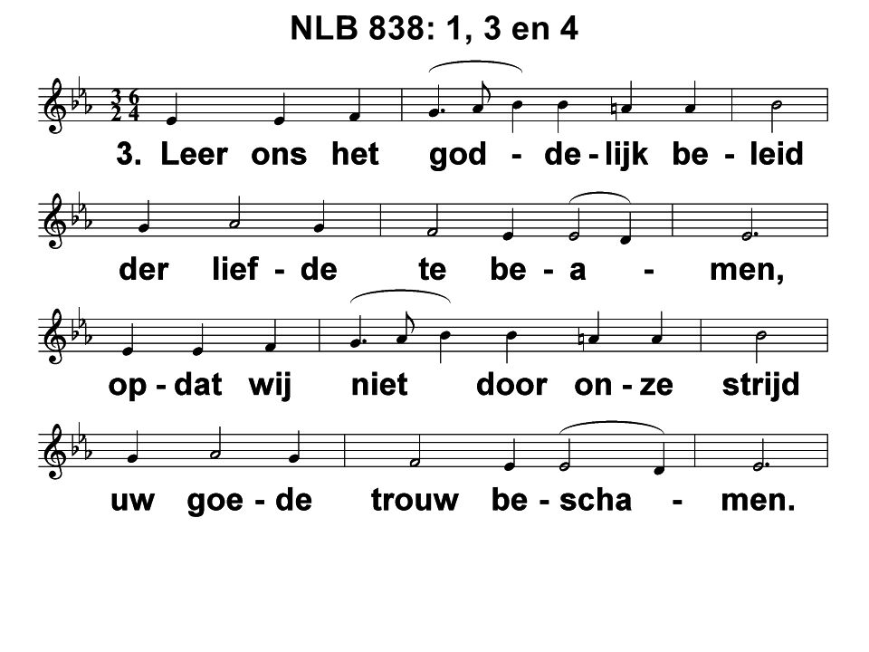 NLB 838: 1, 3 en 4